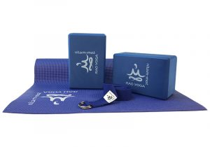 Комплект аксесуаров синего цвета Nilam Rao для йоги