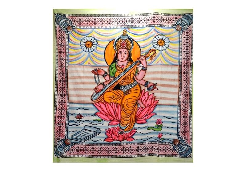 Фото Покрывало цветное Хлопок-100% Боги Сарасвати 245х215 см