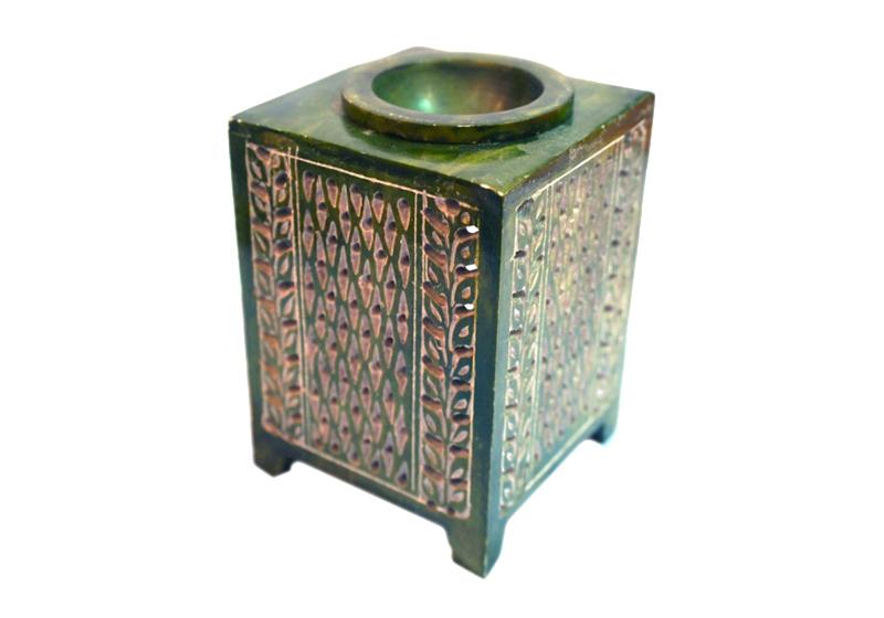 Фото Аромалампа каменная квадратная 12х8х8 см Индийский стиль