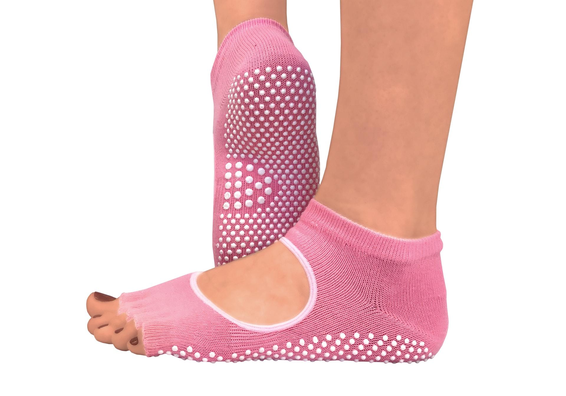 Фото 2 Желтые носки для йоги