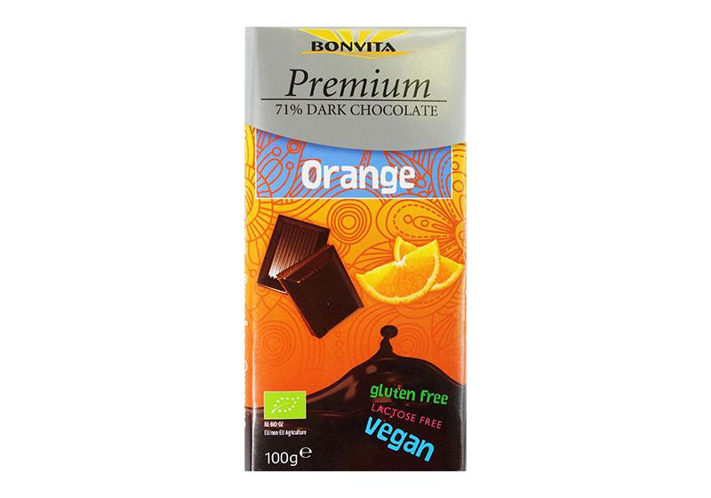 Фото Шоколад горький с кусочками апельсина 100 г