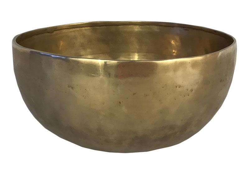Фото Тибетская поющая чаша, кованая, 22 см