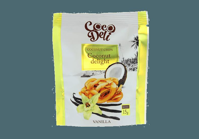 Фото Чипсы кокосовые со вкусом ванили 15 г