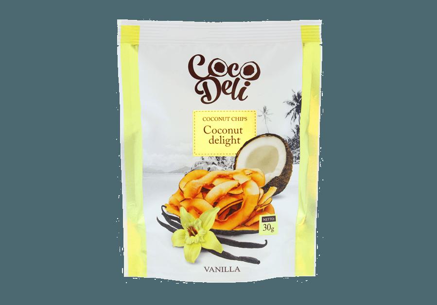 Фото Чипсы кокосовые со вкусом ванили 30 г