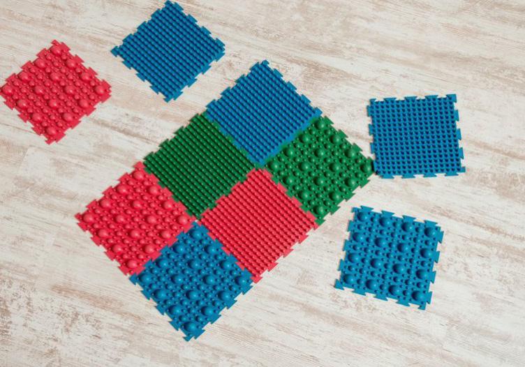 """Фото 3 Набор резиновых ковриков для ног """"Пазл"""" от Onhill"""