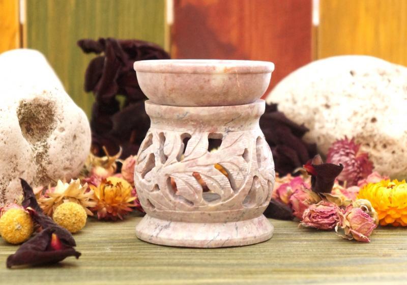 Фото Аромалампа каменная круглая 8*6,5*6,5 см Ветка