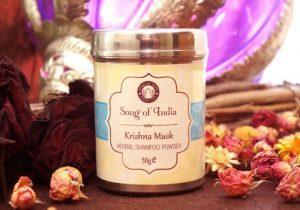 Шампунь сухой из натуральных ингредиентов 50 г Krishna Musk