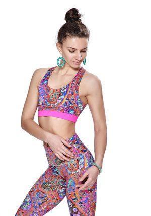 Разноцветный топ Лакшми бренда Maxi Yoga