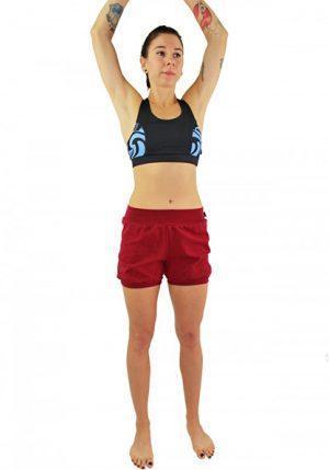 Вишнёвые трикотажные шорты-фонарики Рати от Maxi Yoga