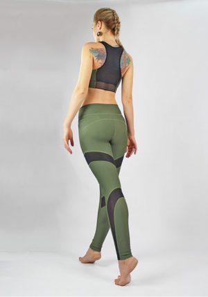 Оригинальный топ от Maxi Yoga цвета хаки Шакти