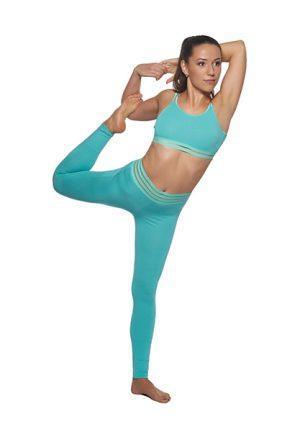 Трикотажный топ цвета мяты Maxi Yoga