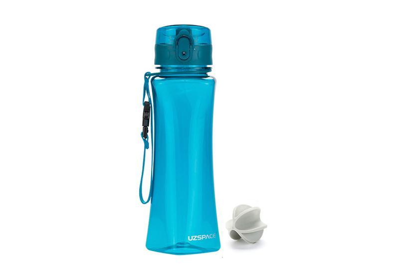 Фото Бутылка-шейкер для воды Uzspace 500 мл голубая
