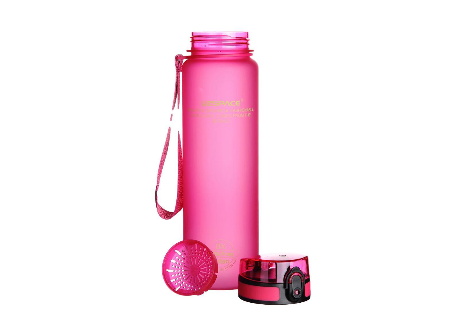Фото 1 Бутылка для воды Uzspace 1000 мл розовая