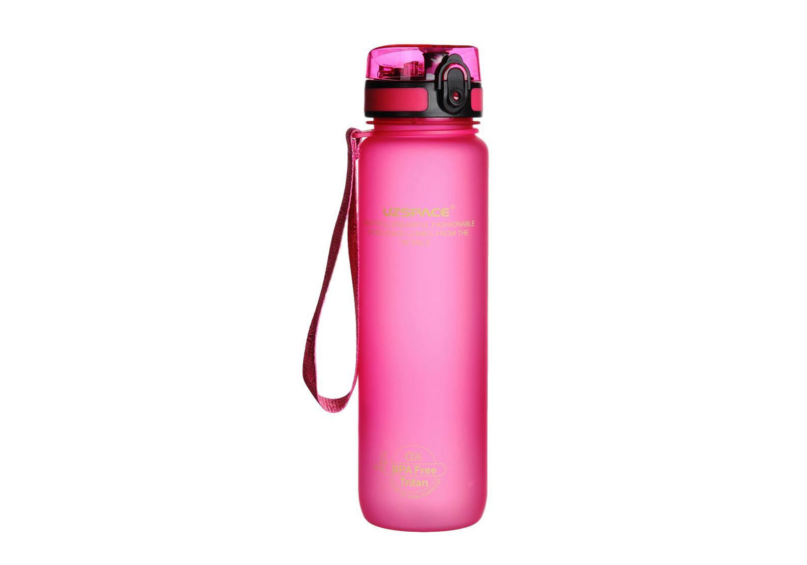Фото Бутылка для воды Uzspace 1000 мл розовая