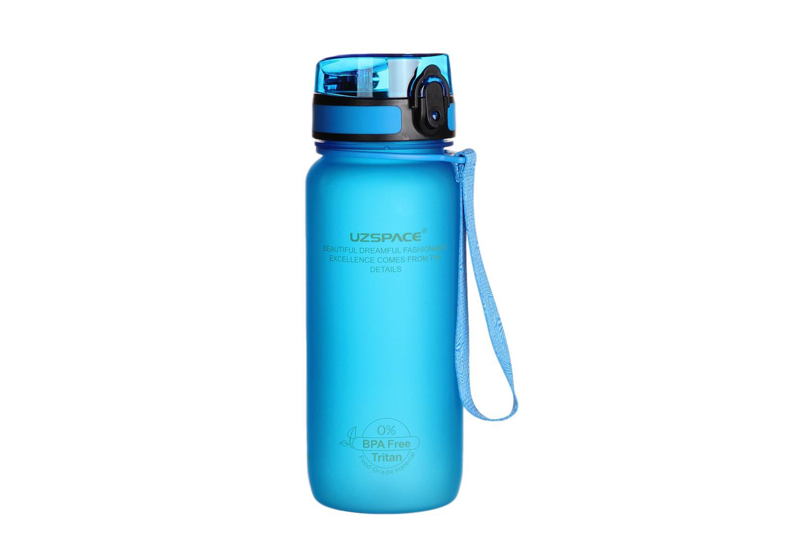 Фото Бутылка для воды Uzspace 650 мл голубая