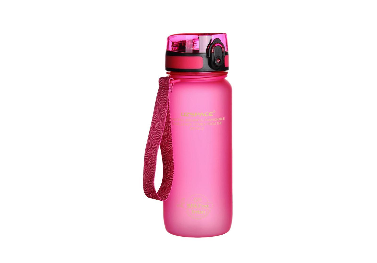 Фото Бутылка для воды Uzspace 650 мл розовая