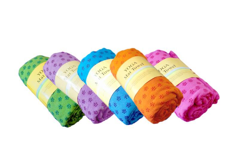 Фото Коврик-полотенце для йоги из микрофибры 183х62 см