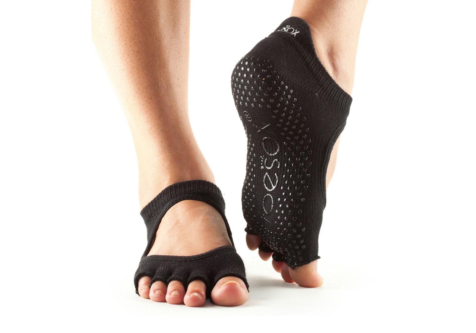 Фото Носки для йоги ToeSox Bellarina с открытыми пальцами