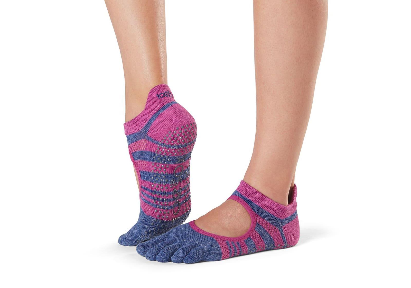 Фото Носки для йоги ToeSox Full Toe Bellarina Grip Atomic