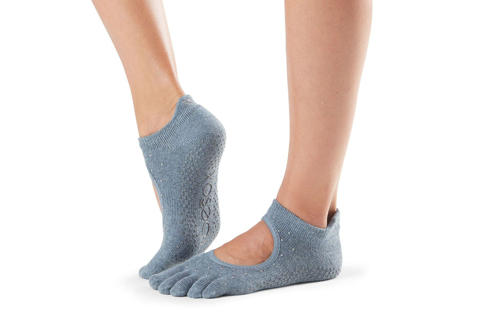 Фото Носки для йоги ToeSox Full Toe Bellarina Grip Baltic