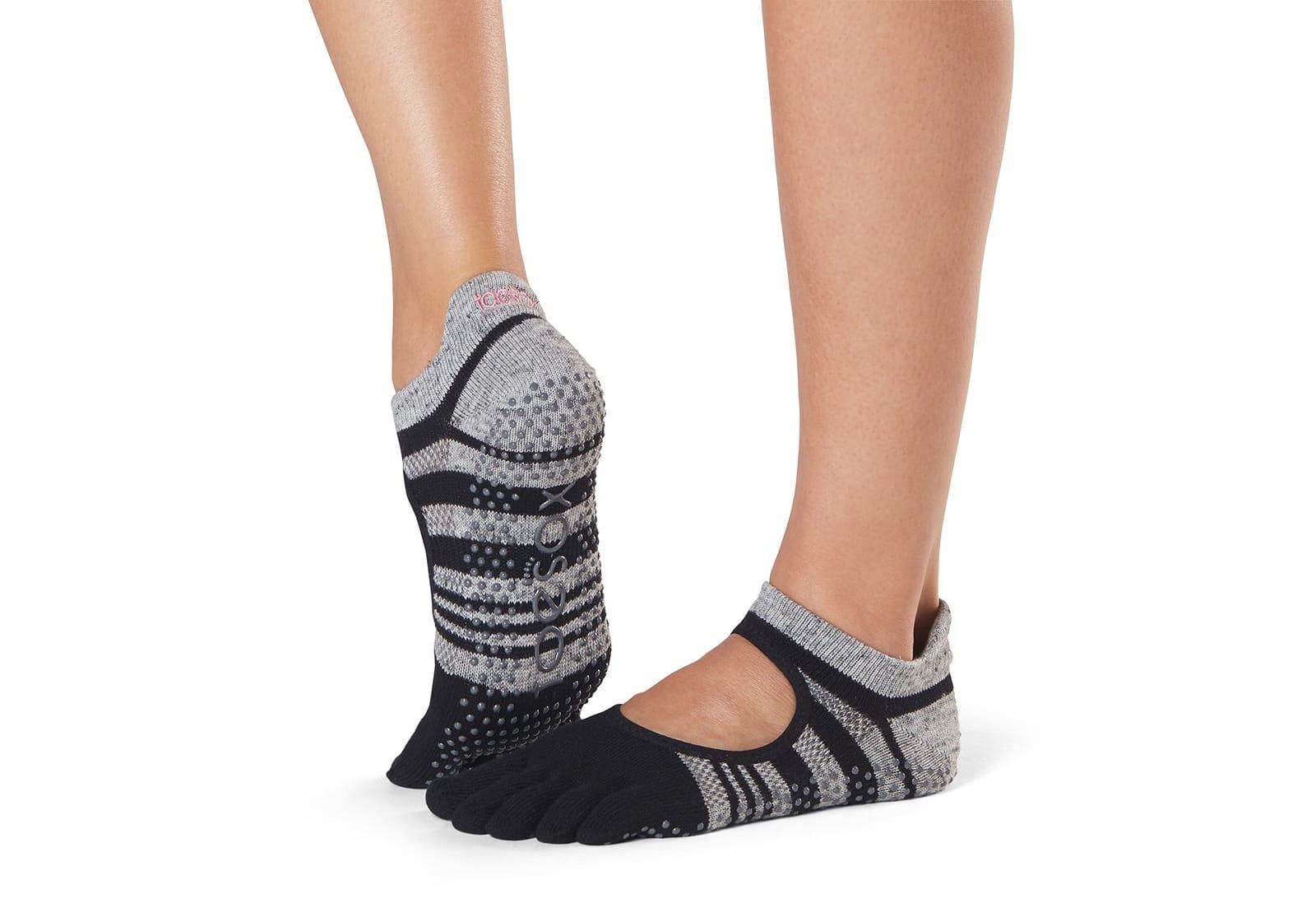 Фото Носки для йоги ToeSox Full Toe Bellarina Grip Eclipse