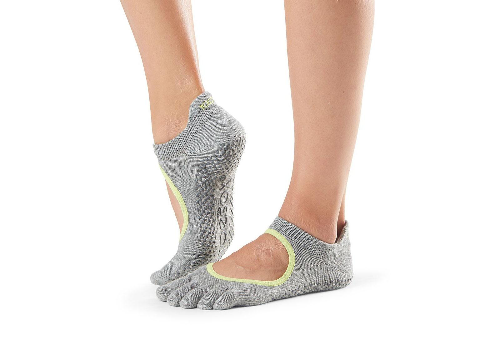 Фото Носки для йоги ToeSox Full Toe Bellarina Grip Heather Grey