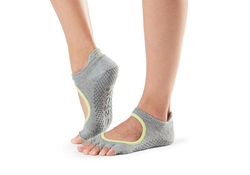 Фото Носки для йоги ToeSox Half Toe Bellarina Grip Heather Grey
