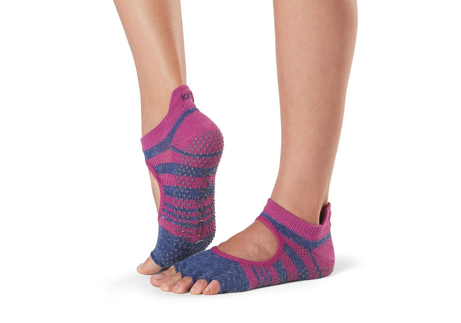 Фото Носки для йоги ToeSox Half Toe Bellarina Grip Atomic