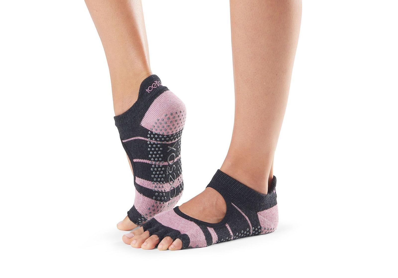 Фото Носки для йоги ToeSox Half Toe Bellarina Grip Mitten