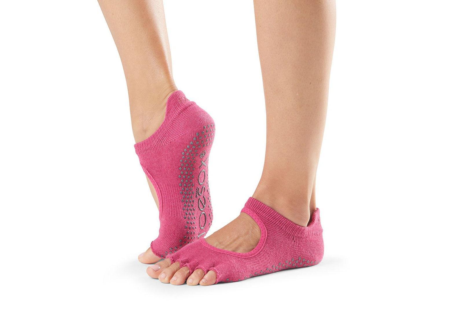 Фото Носки для йоги ToeSox Half Toe Bellarina Grip Raspberry
