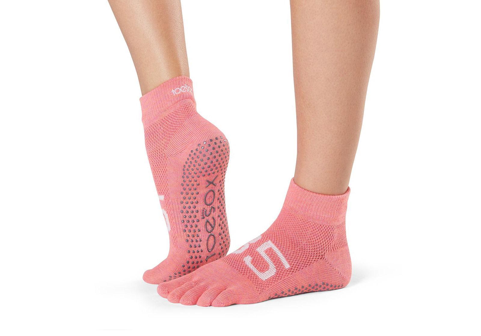 Фото Носки для йоги ToeSox Full Toe Ankle Grip Ace