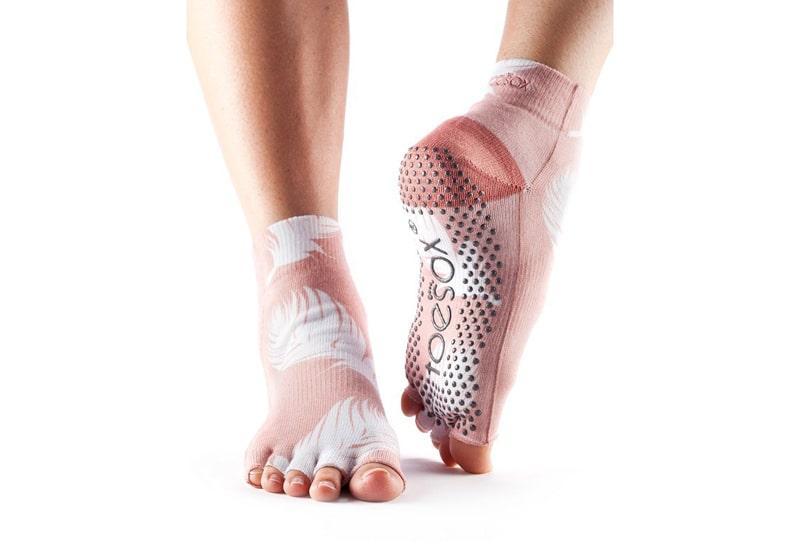 Фото Носки для йоги ToeSox Half Toe Ankle Grip Trance