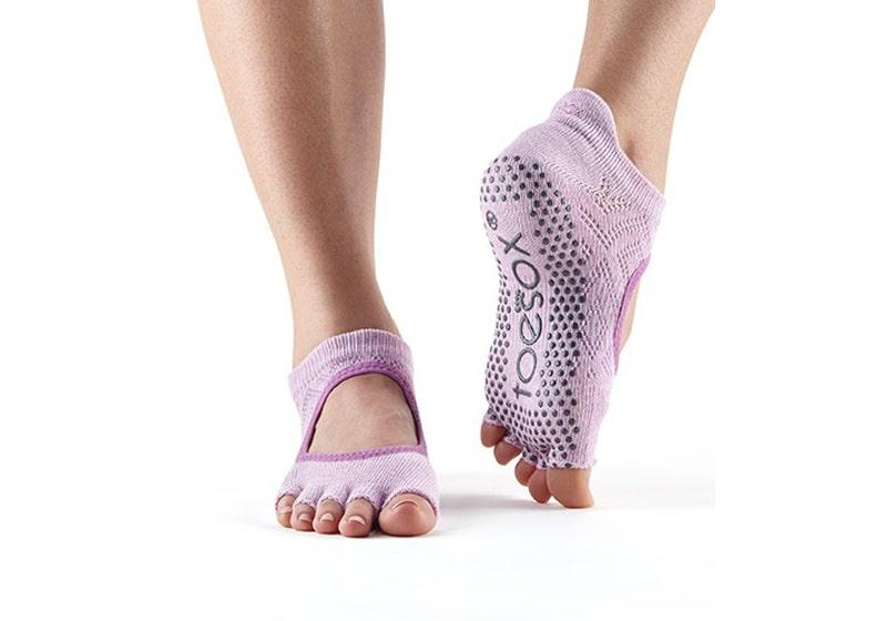 Фото Носки для йоги ToeSox Half Toe Bellarina Grip Diamond_Freesia