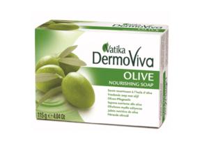 Оливковое мыло 115 г Vatika Dermoviva