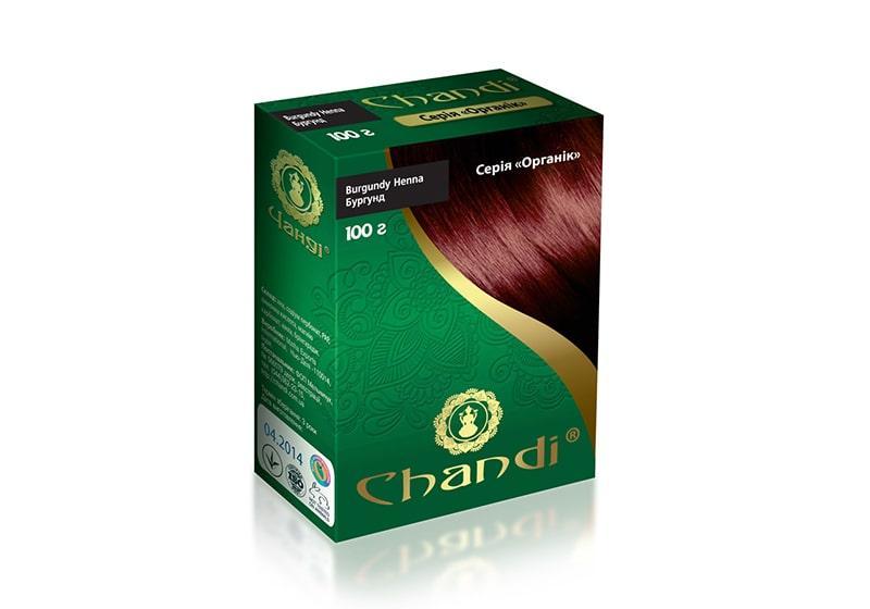 Фото Краска для волос на основе хны Chandi Органик бургундная 100 г