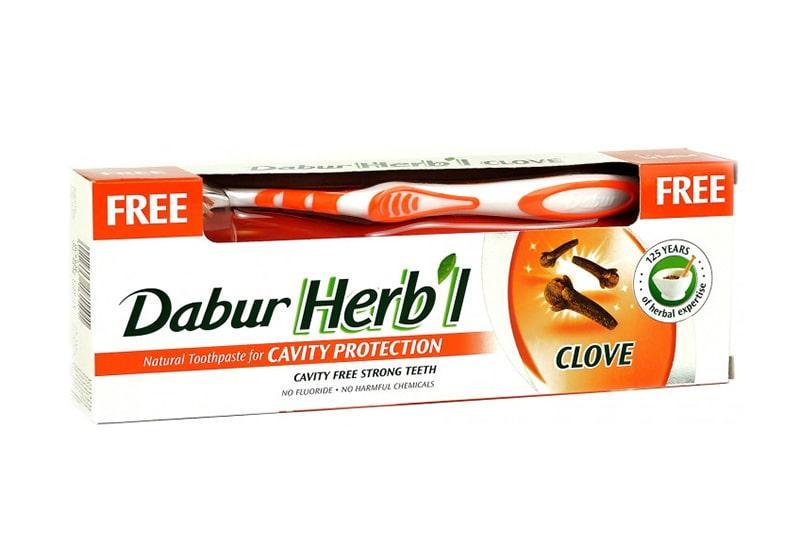 Фото Зубная паста Гвоздика Dabur Herb'l 150 г + щетка