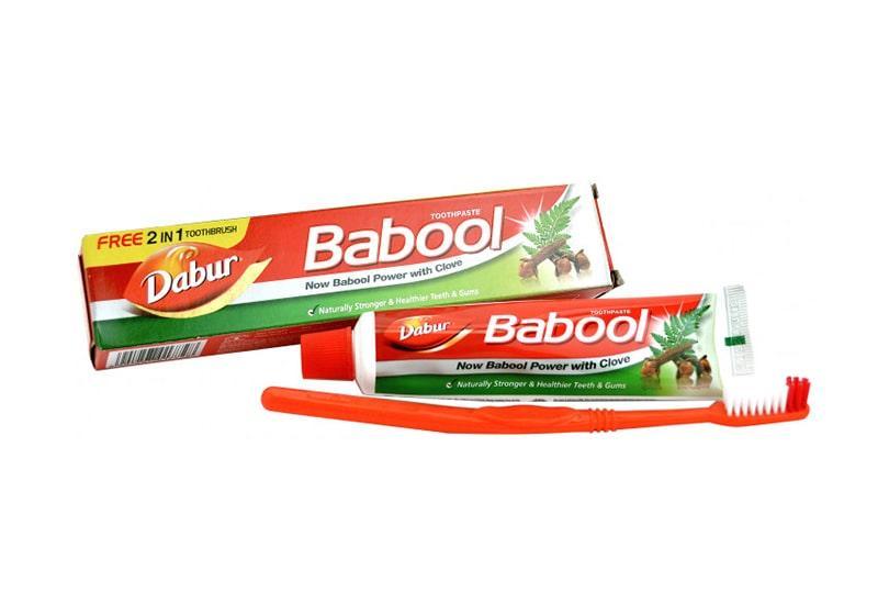 Фото Зубная паста Babool 90 г + щетка