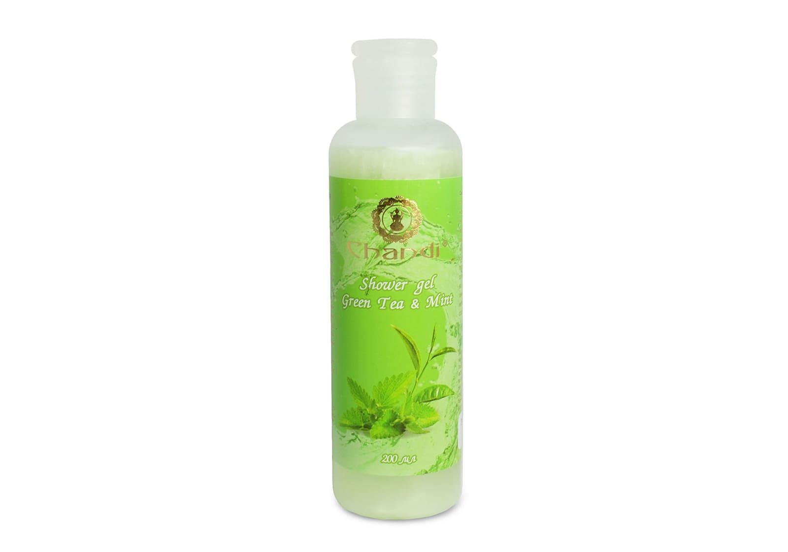 Фото Индийский гель для душа «Green Tea & Mint» Chandi 200 мл