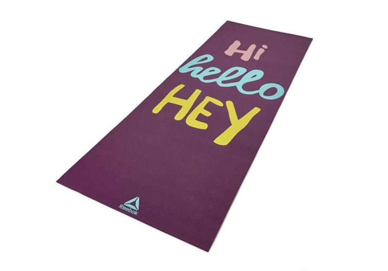Фото Двухсторонний коврик для йоги Reebok 4 мм Crosses – Hi