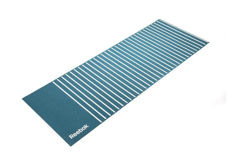 Фото Двухсторонний коврик для йоги Reebok 4 мм Stripes