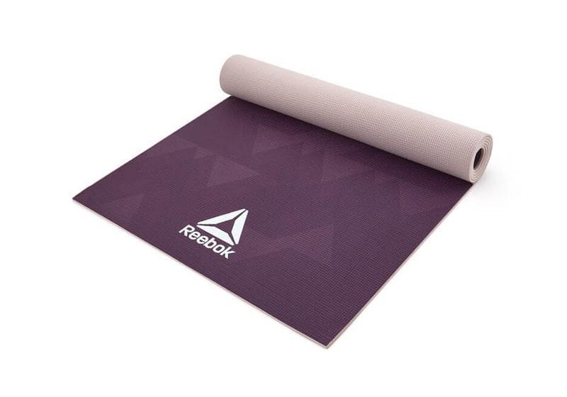 Фото Двухсторонний коврик для йоги Reebok 4 мм Geometric
