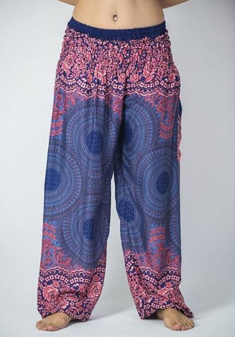 Фото Женские восточные штаны Sure Design синие с мандалой