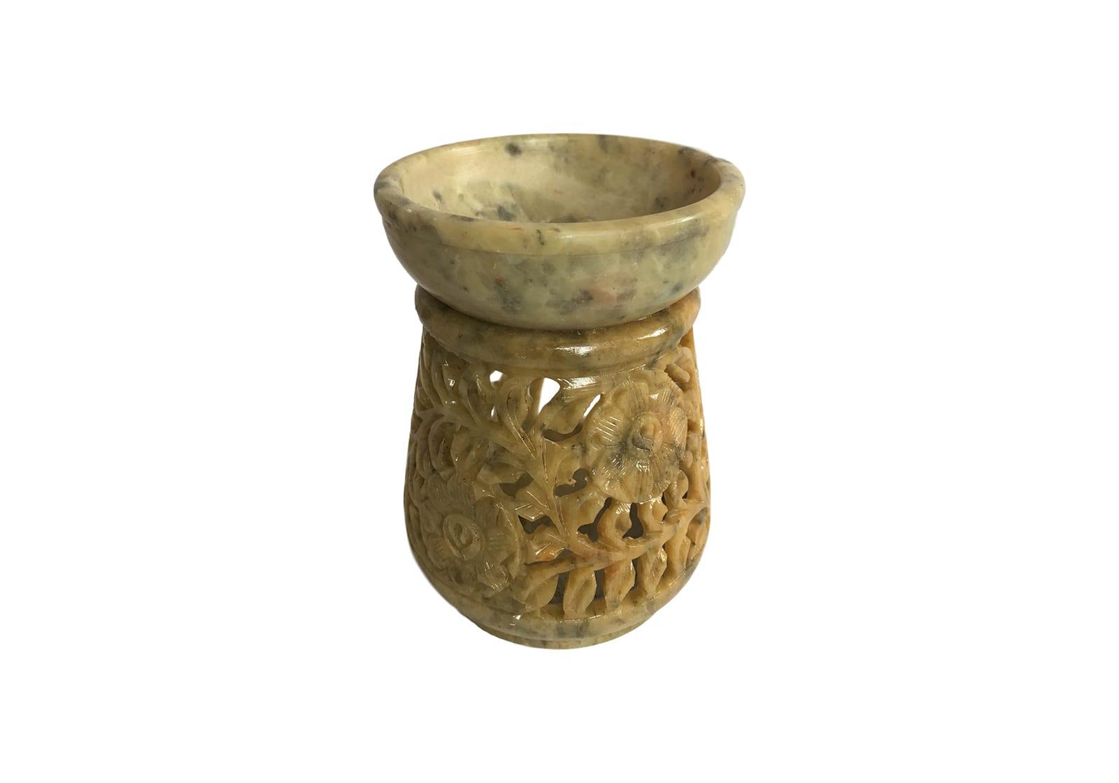 Фото Аромалампа каменная круглая 10*7,5*7,5 см Индия (арт.504)