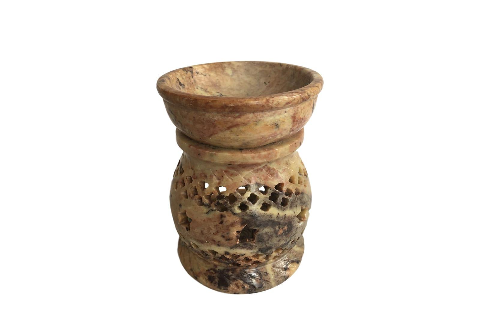 Фото Аромалампа каменная круглая 10*7,5*7,5 см Индия (арт.507)