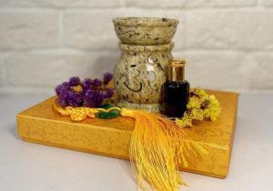 Каменная ароматическая лампа из Индии с Ом символом