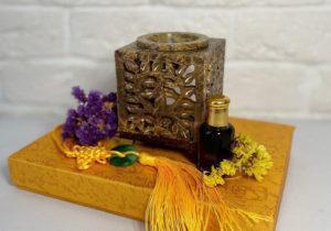 Квадратная аромалампа из Индии ручной работы