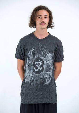 SURE_DESIGN_t-shirt with fish grey
