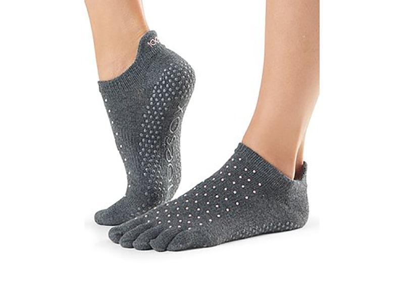 Фото Носки для йоги ToeSox Full Toe Low Rise Grip Antique