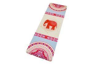Коврик с изображением Слона из микрофибры и каучука