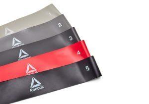 Комплект Reebok из 5-ти эластичных ленточек для фитнеса